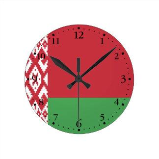 Reloj Redondo Mediano Bandera bielorrusa patriótica