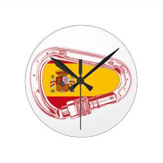 Reloj Redondo Mediano Bandera del mosquetón de España