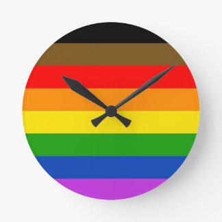 Reloj Redondo Mediano Bandera del orgullo de Philadelphia