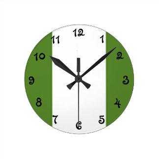 Reloj Redondo Mediano Bandera nigeriana