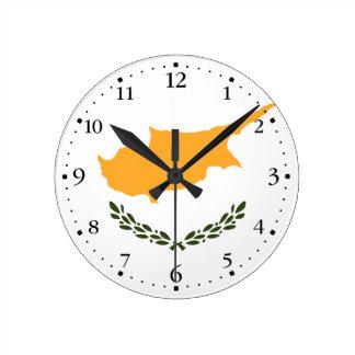 Reloj Redondo Mediano Bandera patriótica de Chipre