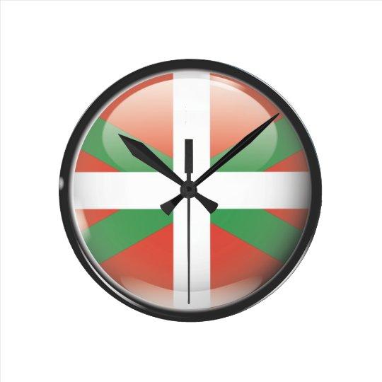 Reloj Redondo Mediano Bandera y escudo de Euskadi
