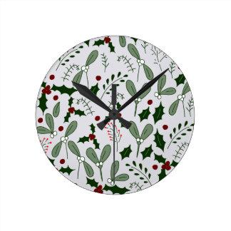 Reloj Redondo Mediano Bayas del invierno