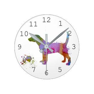 Reloj Redondo Mediano Beagle y juguete