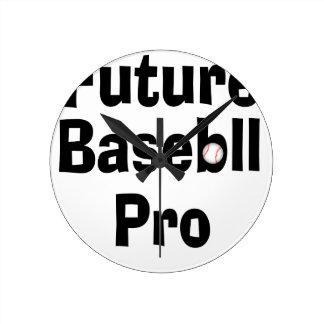 Reloj Redondo Mediano Béisbol futuro favorable