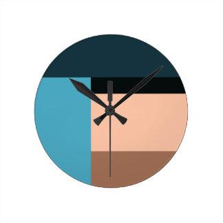 Reloj Redondo Mediano Bloque del color crema del hielo