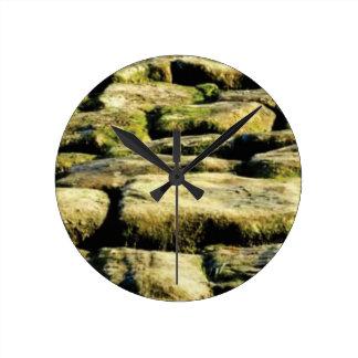 Reloj Redondo Mediano bloques del amarillo de roca