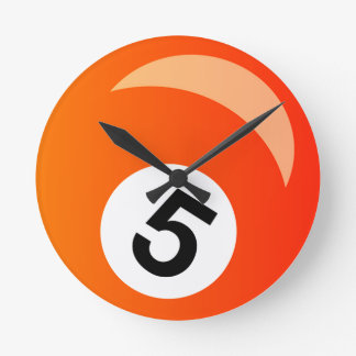 Reloj Redondo Mediano Bola cinco