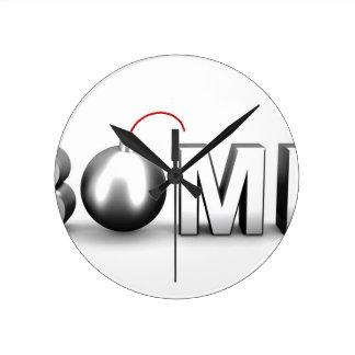 Reloj Redondo Mediano Bomba