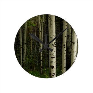 Reloj Redondo Mediano Bosque blanco