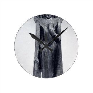 Reloj Redondo Mediano Buda coronado - período pagano