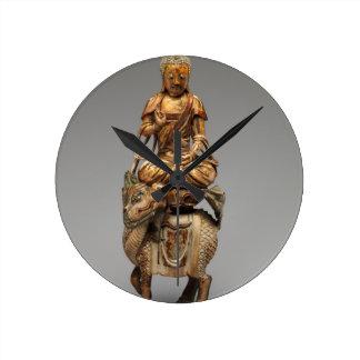 Reloj Redondo Mediano Buda Shakyamuni con bodhisattvas acompañantes