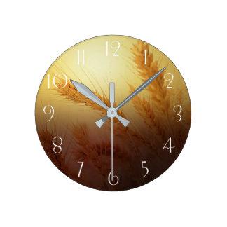 Reloj Redondo Mediano Campo de trigo