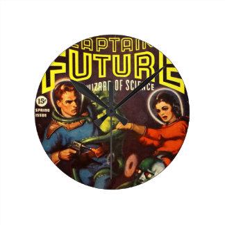 Reloj Redondo Mediano Capitán Future y condenación solar