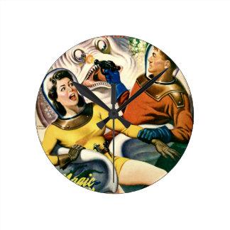 Reloj Redondo Mediano Capitán Future y la luna mágica