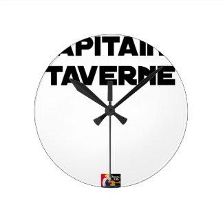 Reloj Redondo Mediano CAPITÁN TABERNA - Juegos de palabras - Francois