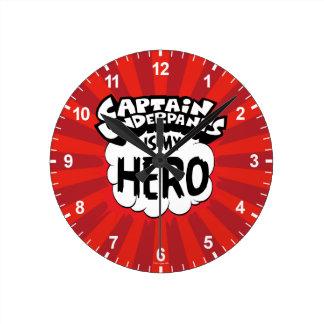 Reloj Redondo Mediano Capitán Underpants el | mi héroe