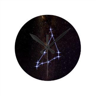 Reloj Redondo Mediano Capricornio de la muestra de la estrella
