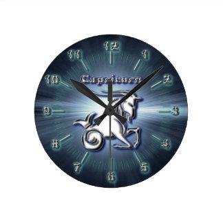 Reloj Redondo Mediano Capricornio del cromo