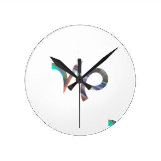 Reloj Redondo Mediano Capricornio del holograma