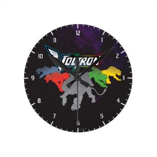 Reloj Redondo Mediano Carga de los leones de Voltron el |