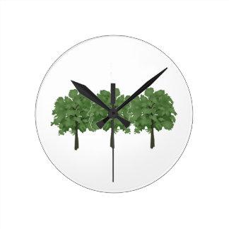 Reloj Redondo Mediano Cepillo de las naturalezas