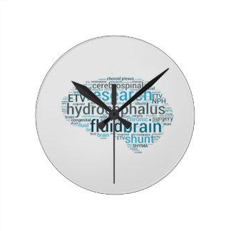 Reloj Redondo Mediano Cerebro hidráulico