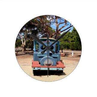 Reloj Redondo Mediano Chicloso, locomotora 2 del motor del tren