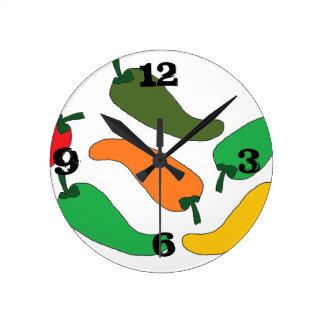 Reloj Redondo Mediano chilitos de colores