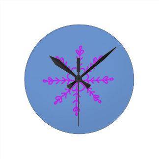 Reloj Redondo Mediano Christmassy caliente y precioso