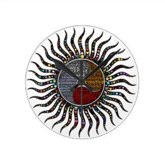 Reloj Redondo Mediano Círculo de la vida