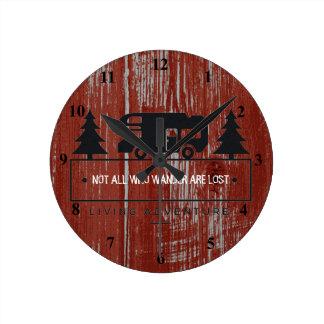 Reloj Redondo Mediano Cita roja no toda del viaje de madera los | del