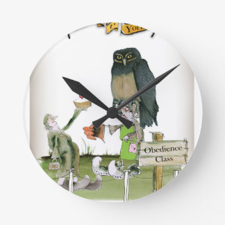 Reloj Redondo Mediano clase de la obediencia de Yorkshire del amor