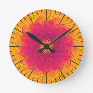 Reloj Redondo Mediano Clavel adaptable (spirograph psicodélico)