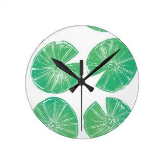 Reloj Redondo Mediano Cojines de lirio