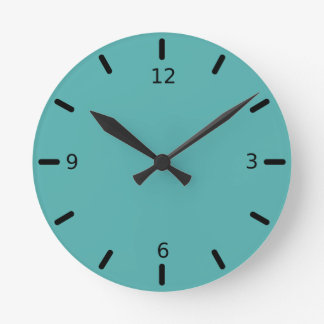 Reloj Redondo Mediano Color abundante rico de las azules turquesas