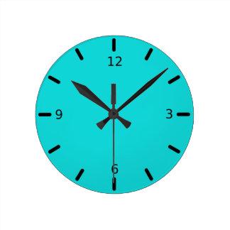 Reloj Redondo Mediano Color altruista inestimable de las azules