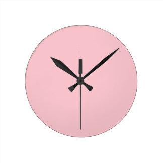 Reloj Redondo Mediano Color rosa claro