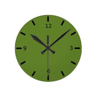 Reloj Redondo Mediano Color verde graciosamente social