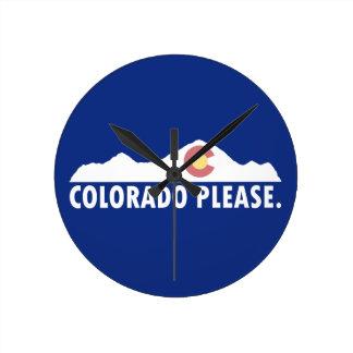 Reloj Redondo Mediano Colorado por favor
