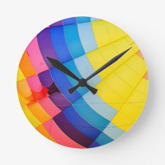 Reloj Redondo Mediano Colorido abstracto