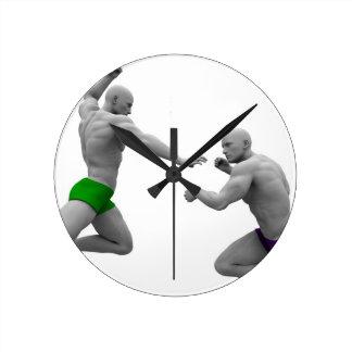 Reloj Redondo Mediano Concepto de los artes marciales para luchar y la