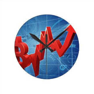 Reloj Redondo Mediano Concepto del gráfico de funcionamiento de Bitcoin