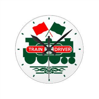 Reloj Redondo Mediano Conductor del tren