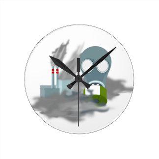 Reloj Redondo Mediano Contaminación atmosférica