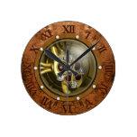 Reloj Redondo Mediano Corazón mecánico de Steampunk