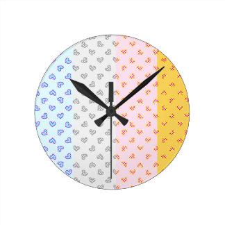 Reloj Redondo Mediano Corazones estupendos del fiesta del alma