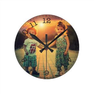 Reloj Redondo Mediano Cree su propia foto de encargo moderna