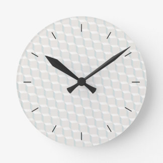 Reloj Redondo Mediano Cubos blancos