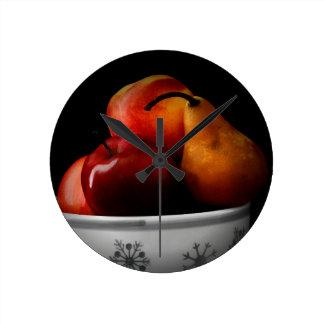 Reloj Redondo Mediano Cuenco de /Fruit
